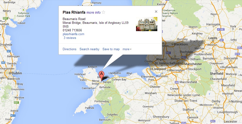 Plas Rhianfa Google Map